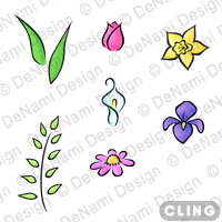 Cl gd003 spring flowers set cling back to list mightylinksfo